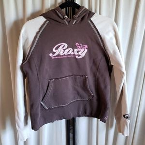 Roxy sz M brown/cream/pink long sleeve sweatshirt
